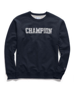 Champion Men's Powerblend® Fleece Crew, Mesh-Effect Logo men Champion