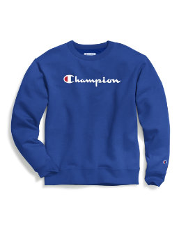Champion Men's Powerblend® Fleece Crew, Script Logo men Champion