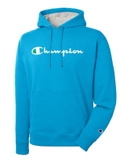 Champion Men's Powerblend® Pullover Hoodie, Script Logo men Champion