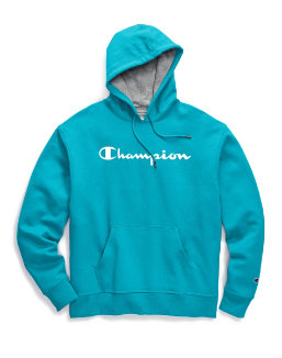 Champion Men's Powerblend® Fleece Pullover Hoodie, Script Logo men Champion