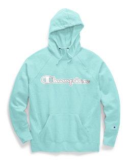 Champion Women's Powerblend® Fleece Pullover Hoodie, Chainstitch Logo women Champion