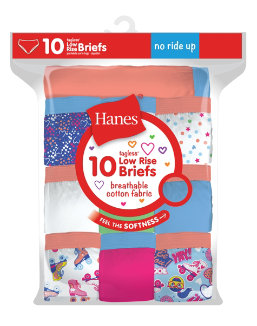 Hanes Girls Tagless Low Rise Briefs P10 youth Hanes