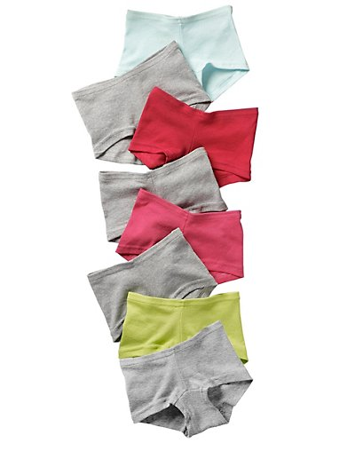 Hanes Girls' Cotton Boy Short Panties 8-Pack - GSBS80