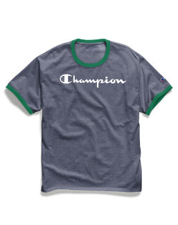 Champion Men's Classic Jersey Ringer Tee, Script Logo men Champion