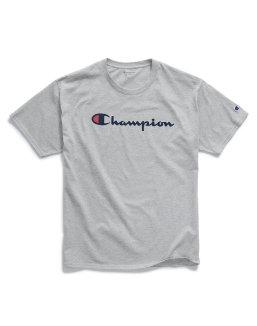 Champion Men's Graphic Jersey Tee, Script Logo men Champion