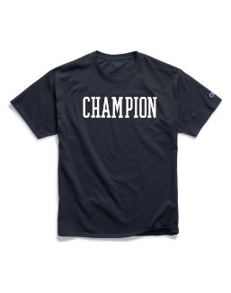Champion Men's Classic Jersey Tee, Block Logo men Champion