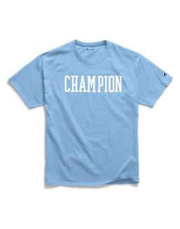 Champion Men's Classic Jersey Tee, Block Logo men Champion