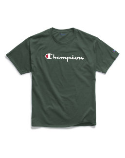 Champion Men's Classic Jersey Tee, Script Logo men Champion
