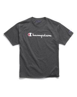 Champion Men's Classic Jersey Tee, Script Logo men Champion