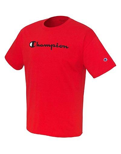 Hanes GT280 Champion Men Graphic Jersey Tee - Script