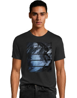 Men's Surfer Stripes Graphic Tee men Hanes