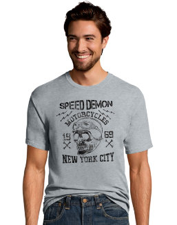 Hanes Men's Speed Demon Motorcycles Graphic Tee men Hanes