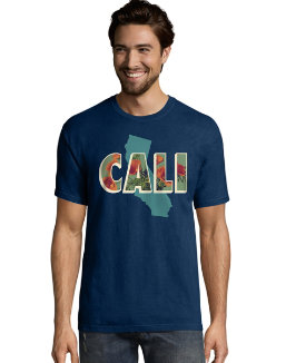 Hanes Men's California Postcard Graphic Tee men Hanes