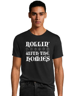 Hanes Men's Rollin' With The Homies Graphic Tee men Hanes