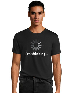 Hanes Men's I'm Thinking Graphic Tee men Hanes