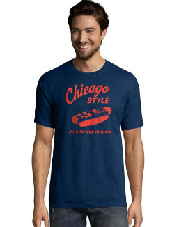 Hanes Men's Chicago Style Graphic Tee men Hanes