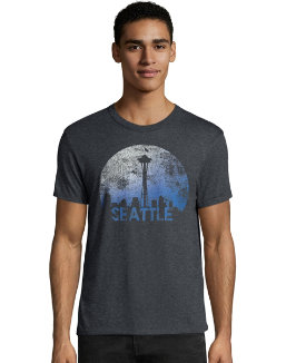 Hanes Men's Space Seattle Graphic Tee men Hanes