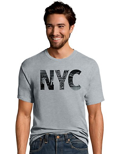 Hanes Men's NYC Collage Graphic Tee GT49_Y07074
