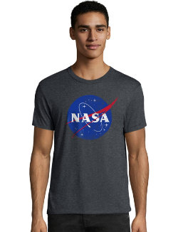 Hanes Men's NASA Meatball Graphic Tee men Hanes