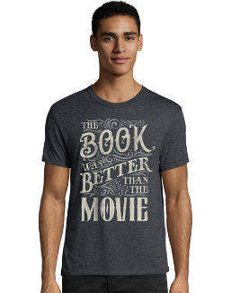 Hanes Men's The Book Was Better Than The Movie Graphic Tee men Hanes