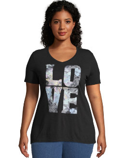 JMS Big Love Short Sleeve Graphic Tee women Just My Size