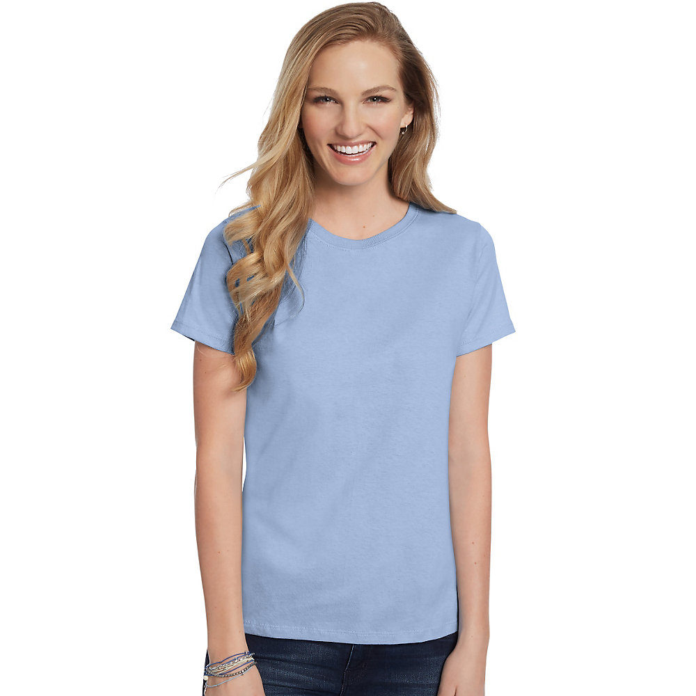 Hanes Women 39 S Relaxed Fit Jersey Comfortsoft Crewneck T