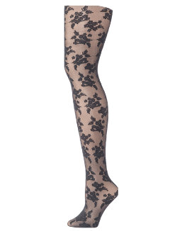 Hanes Floral Illusion Fashion Tights women Hanes