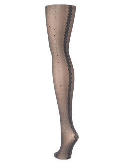 Hanes Dot with Backseam Fashion Tights women Hanes
