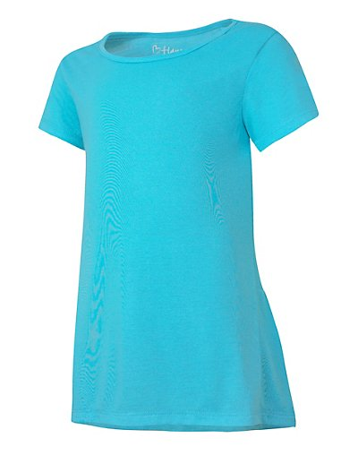 Hanes HNK294  Girls' Peplum Short Sleeve T-Shirt