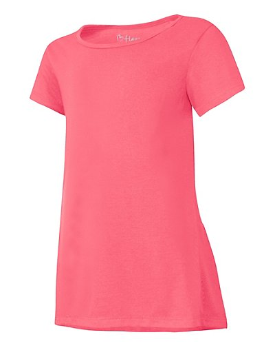 Hanes Girls' Peplum Short Sleeve T-Shirt - HNK294