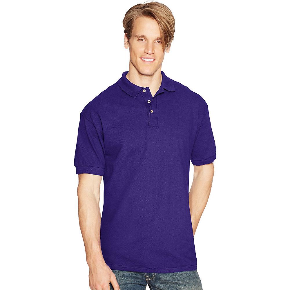 Hanes Men's Short Sleeve 7 oz Cotton Pique Polo Shirt 055 at Sears.com