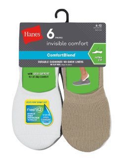 Hanes Men's ComfortBlend® Cushioned No-Show Liner Socks Active Cut 6-Pack men Hanes