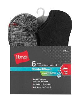 Hanes Men's FreshIQ™ ComfortBlend® Big and Tall Sport Cut Socks 6-Pack men Hanes
