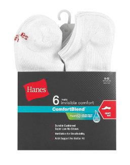 Hanes Men's FreshIQ™ ComfortBlend® Sport Cut Socks 6-Pack men Hanes