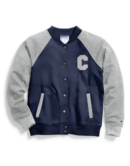 Champion Women Heritage Bomber Jacket-Heritage Block C women Champion