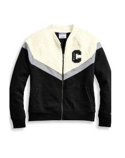 Champion Women's Heritage Sherpa Bomber Jacket, Block C Logo women Champion