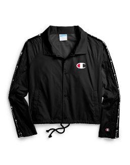 Champion Life® Women's Zipper Tape Cropped Coaches Jacket women Champion