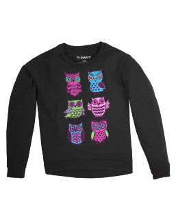 Girl's Hi-Low Crew Sweatshirt youth Hanes