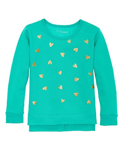 Hanes Girls' High-Low Graphic Sweatshirt - K376