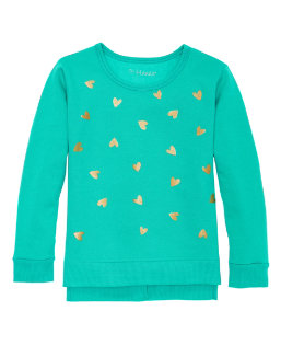 Hanes Girls' High-Low Graphic Sweatshirt youth Hanes