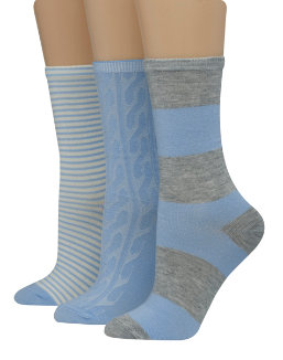 Hanes Women's Assorted Giftable Crew Socks 3-Pack women Hanes