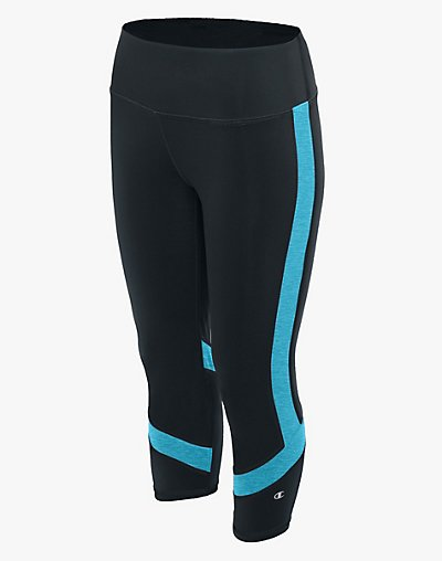 Champion M1256  Women Absolute Colorblock Capris With SmoothTec™ Waistband