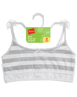 Hanes Girls' Cotton Pullover Bra 2-Pack youth Hanes