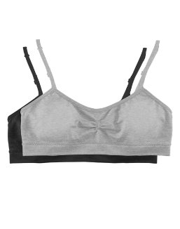 Hanes Girls' Seamless Molded Cup Wirefree Bra 2-Pack youth Hanes