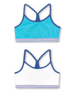 Hanes Girls' ComfortFlex Fit® Pullover Bra with Thin Racerback Straps 2-Pack youth Hanes