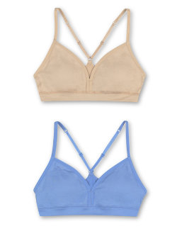 Hanes Girls' ComfortFlex Fit® Pullover Bra with Adjustable Racerback Straps 2-Pack youth Hanes