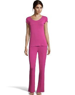 Maidenform Flutter Sleeve Tee & Rib Pants Set women Maidenform
