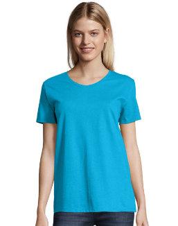 Hanes Women's ComfortSoft Short Sleeve V-neck Tee (2-pack) women Hanes