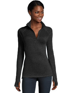 Hanes Sport™ Women's Performance Fleece Quarter Zip Sweatshirt women Hanes