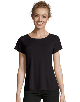 Hanes Sport™ Women's Performance Tee with Mesh Insets women Hanes